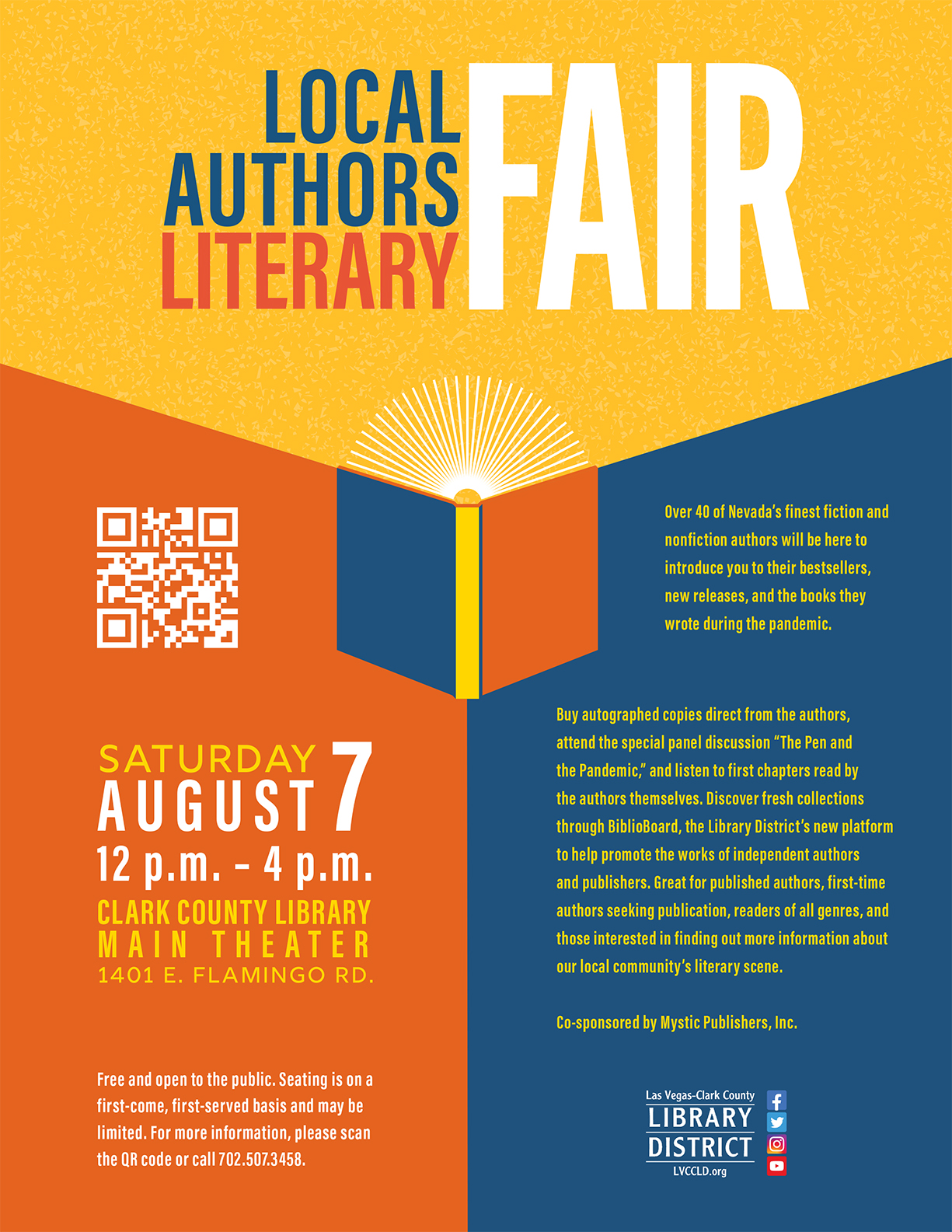 Local Authors Literary Fair Flyer reduced